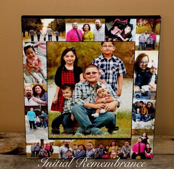 Personalized Picture Frame Collage Christmas Portraits Unique First ...