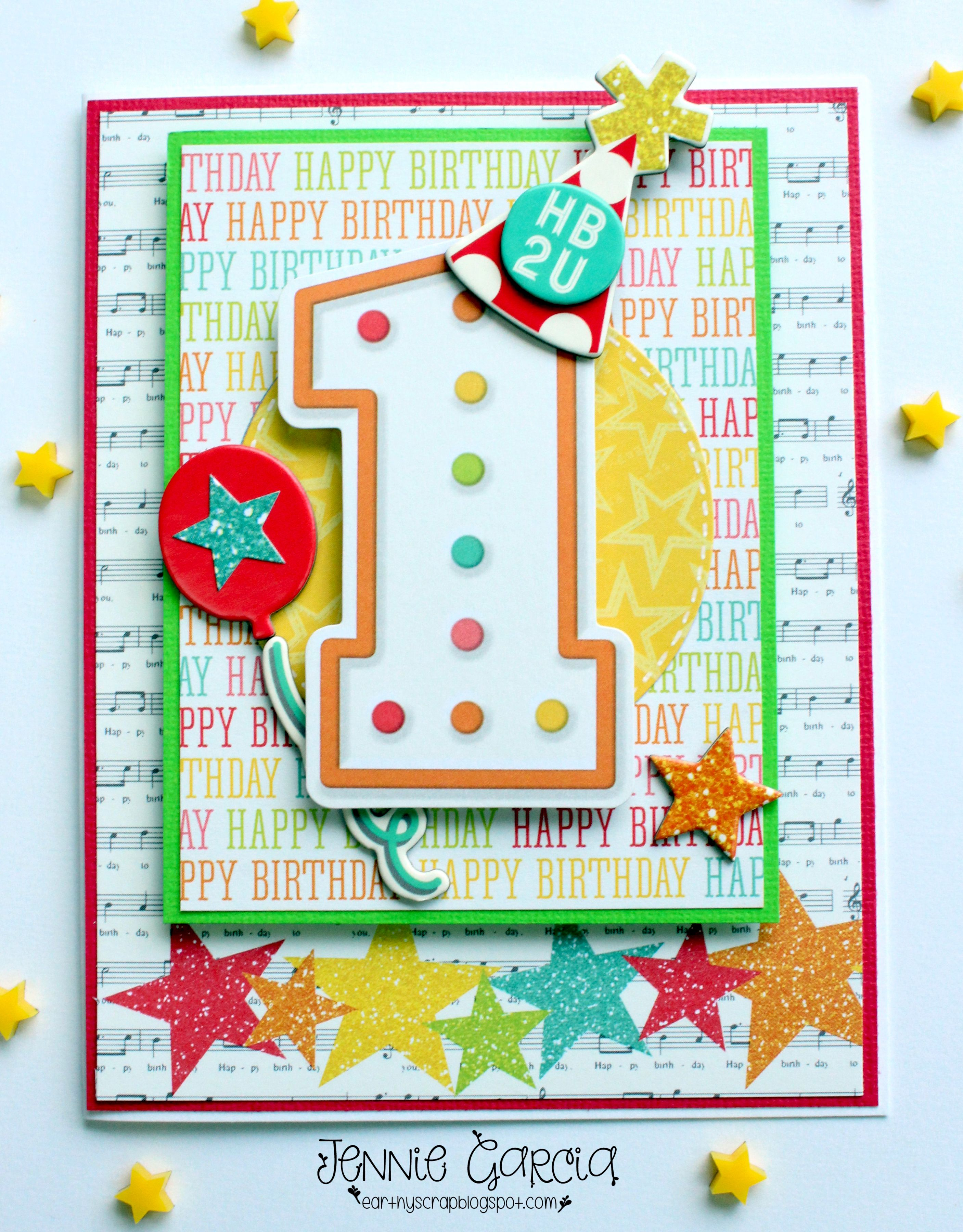 Happy First Birthday Scrapbook Com Cards Tags First Birthday