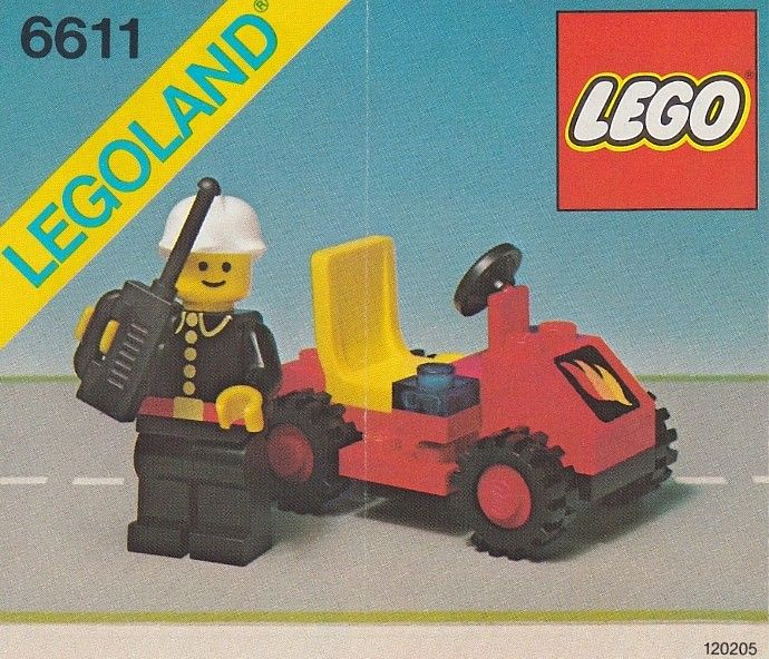 6611 1 Fire Chiefs Car Lego Cars And Lego Instructions