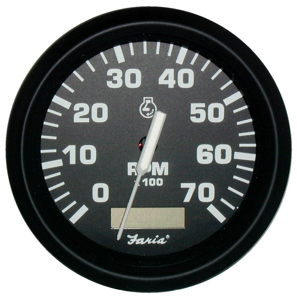 hight resolution of faria euro black 4 tachometer w hourmeter 7 000 rpm gas outboard