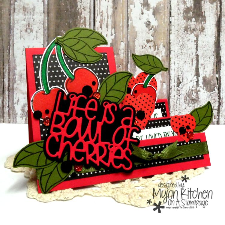 The Stamps of Life Cherries! Cards handmade, Sizzix
