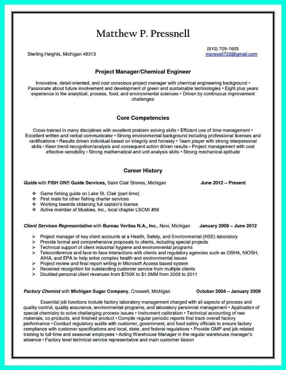 Project Engineer Resume Nice Successful Objectives In Chemical Engineering Resume Check