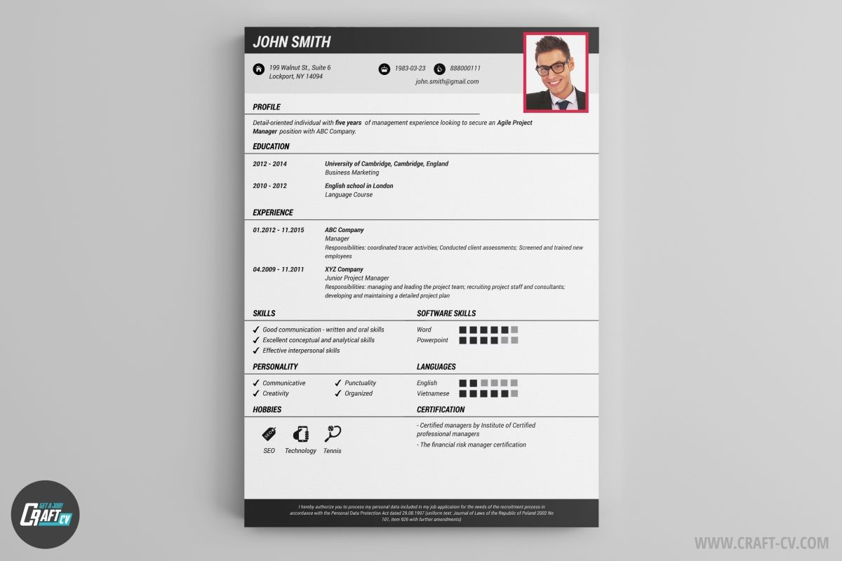 Cv Template Online Resume Examples Resume templates