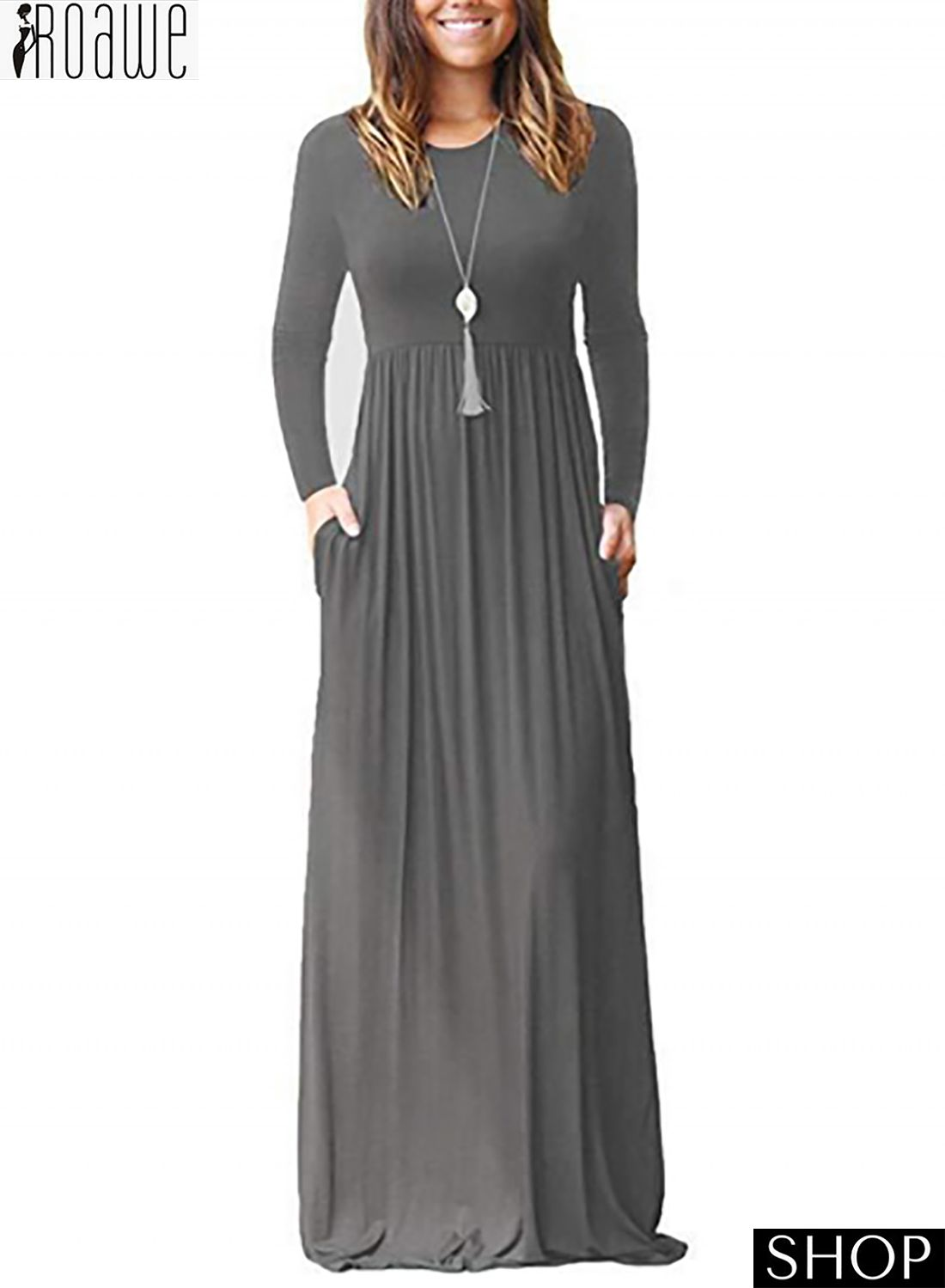 Pin by Sabine Schadt on A-Dress  Long dress casual, Pocket