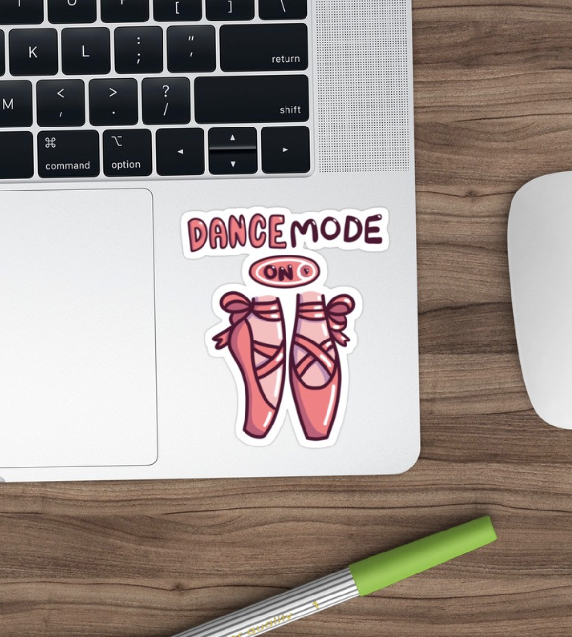Ballet Dancer Ballerina Slippers Dance Mode On Sticker