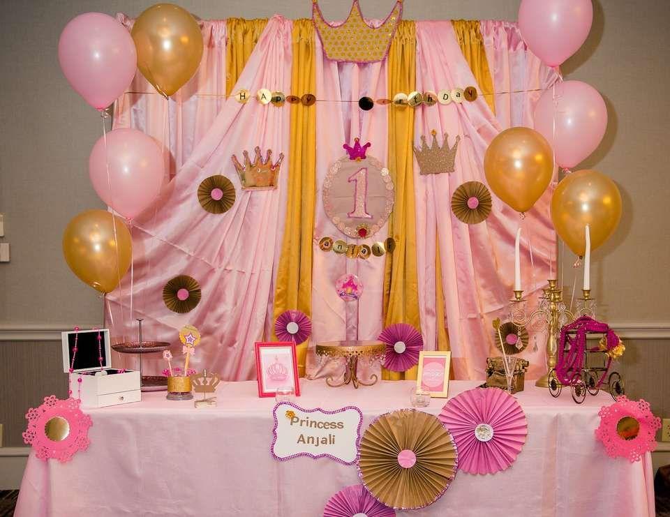 Princess Anjali 1st birthday !!! | Princess theme ...