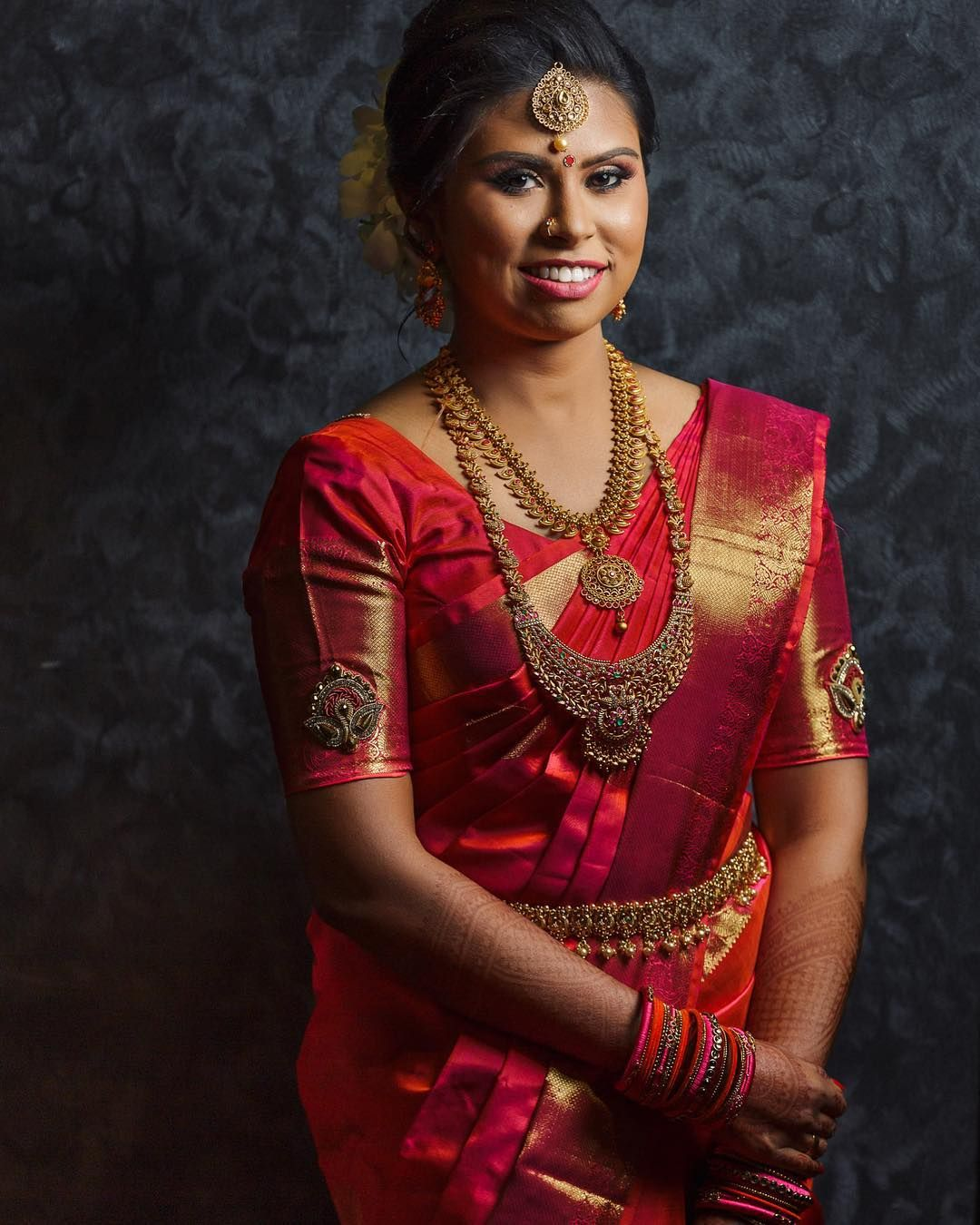 Tamil Bride Hairstyle: Pin By Fashion World On Silk Saree
