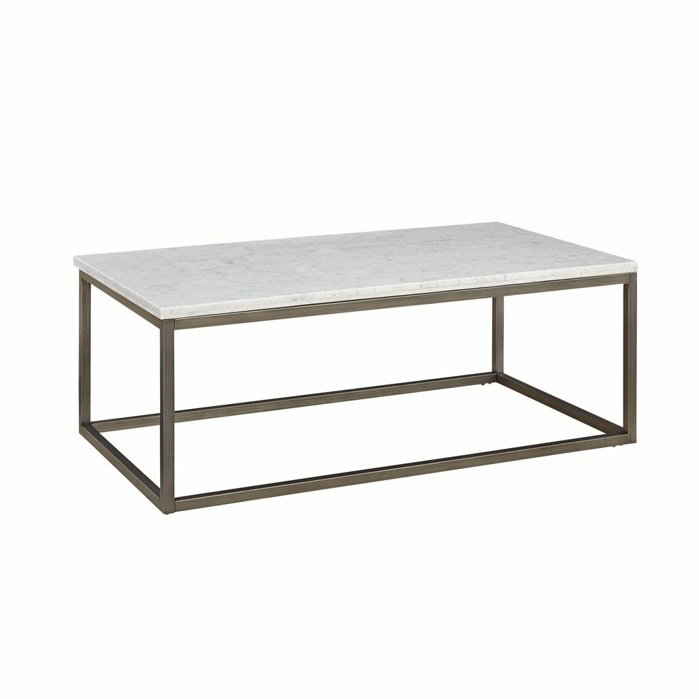 Casana alana rectangular coffee table with white marble top 836 055 mbw 055