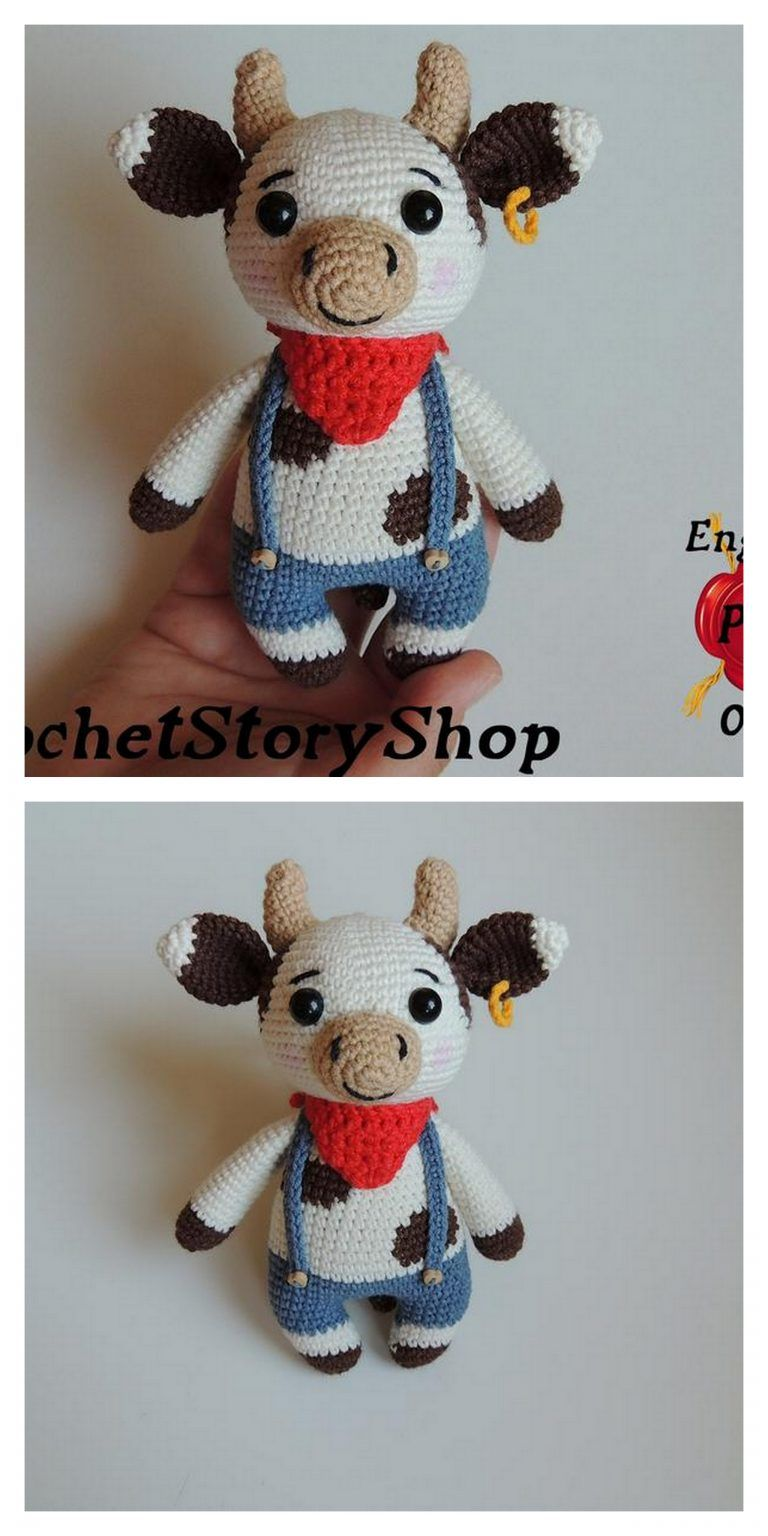Amigurumi Little Cow Free Pattern | 1536x768