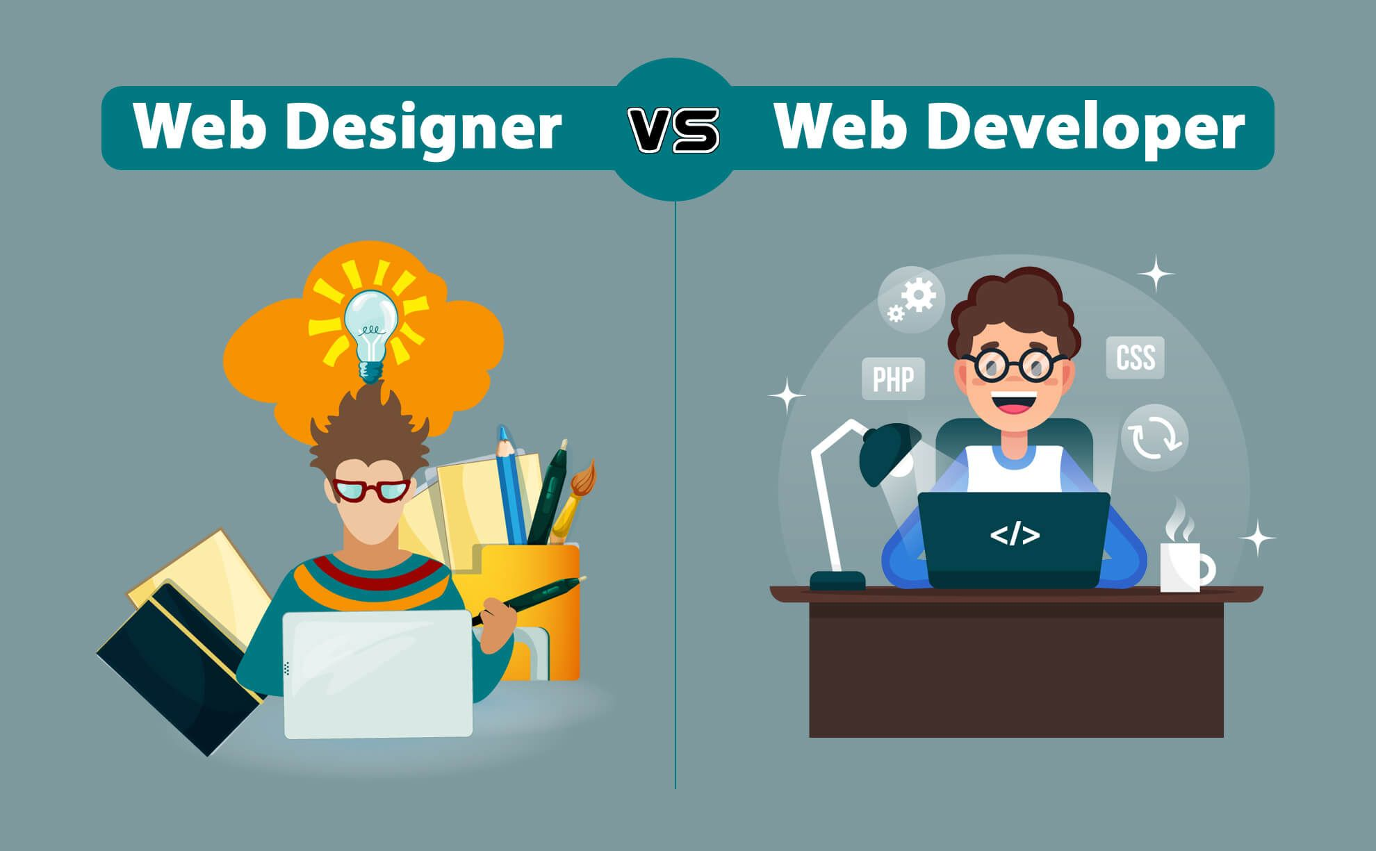 Web Designer Vs Web Developer Pentoz Technology Web Development Web Development Design Learning Web