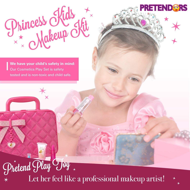 Kids Play Makeup Kit for Girl with Makeup