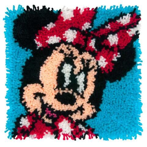 Disney/'s Minnie Mouse Shaped Cushion Latch Hook Kit