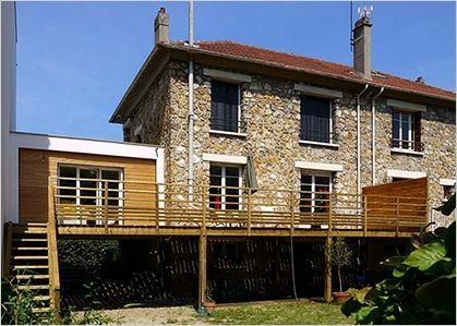 Aménagement terrasse surélevée terrasse Pinterest Balconies