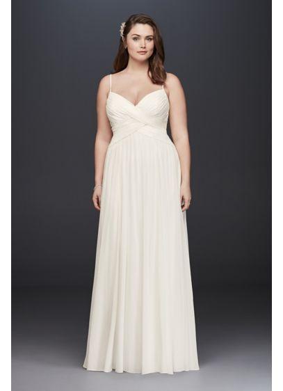 77c3fcb5a82 Long A-Line Beach Wedding Dress - David s Bridal Collection. Sweetheart  Bodice Plus Size ...