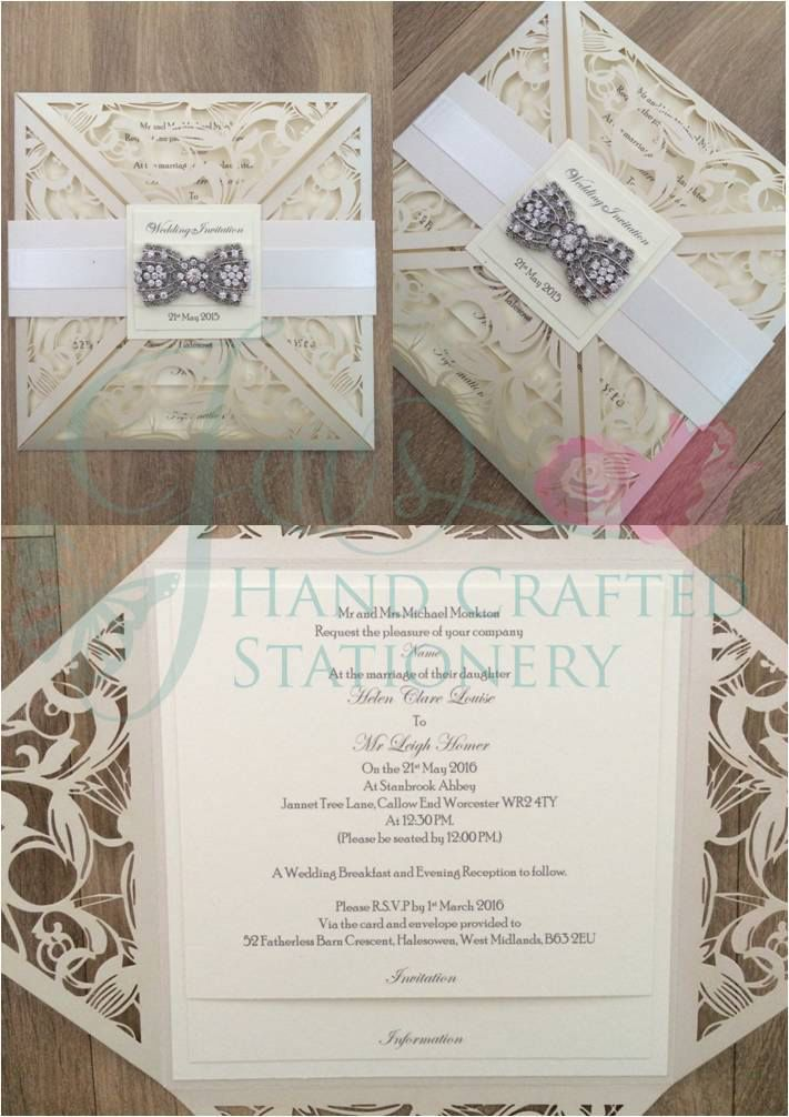 Pin On Belly Band Laser Cut Invitations