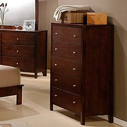 Sonata Cherry Finish 5 Drawer Chest Furniture Pinterest