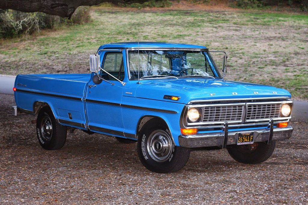 This 1970 Ford F 250 Explorer Camper Special Grabber Blue Ford