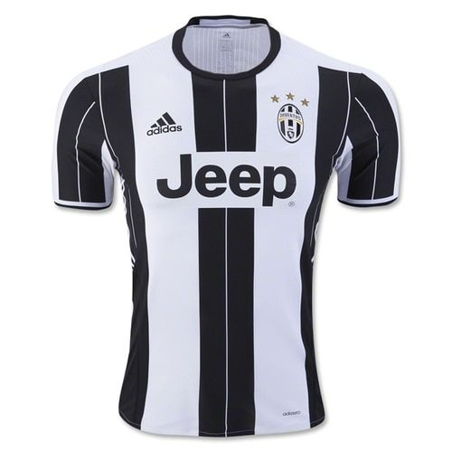 6b20ad6a6 adidas Men s Juventus Authentic 16 17 Home Jersey White Black ...