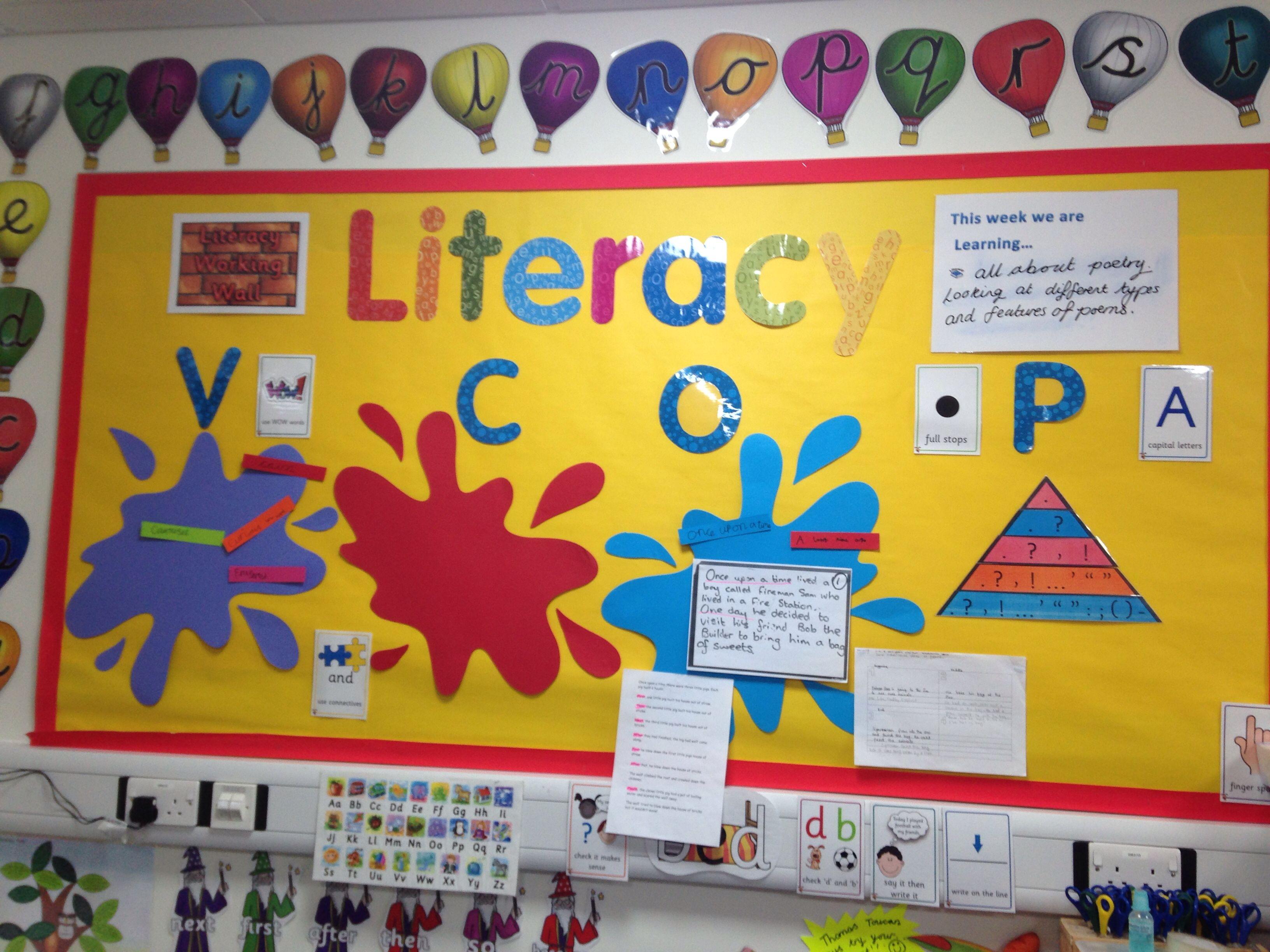 Literacy Working Wall Yr 1 2