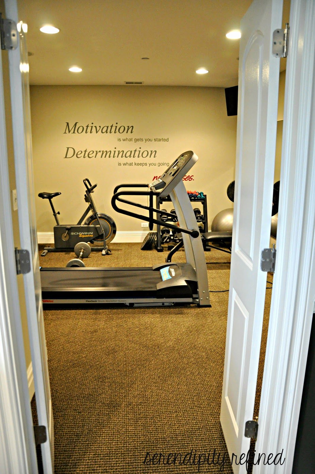 Good Basement Exercise Room By Serendipity Refined. I Will Probably Be Turning  One Of My Rooms Into A Workout Room At Some Point.