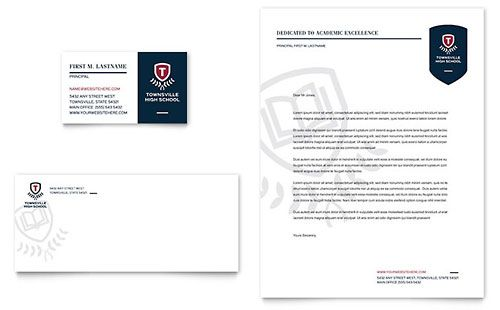 High school letterhead template download pinterest letterhead high school letterhead template spiritdancerdesigns Images