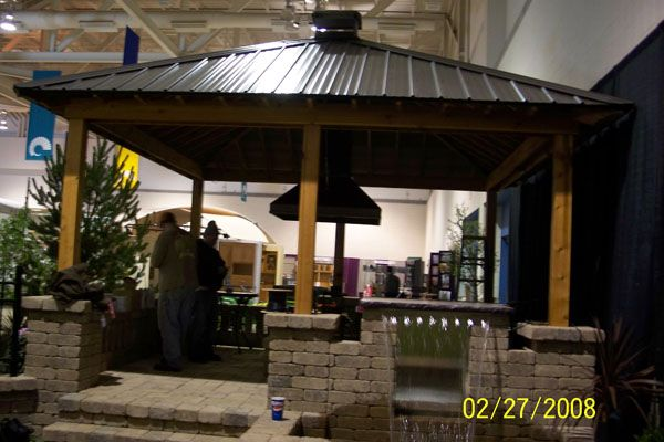 Tin+roof+outdoor+kitchens | Metal Roof Pavilon Pergola Over Outdoor Kitchen  Pergola