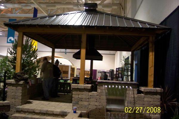 tinroofoutdoorkitchens metal roof pavilon pergola over