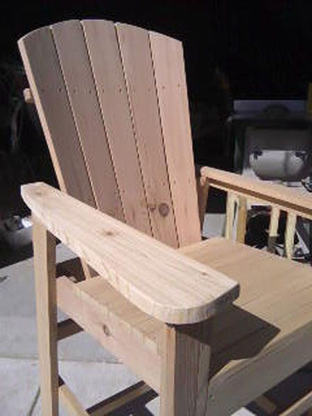 Bar Height Adirondack Chairs From Scrap Wood  Furniture