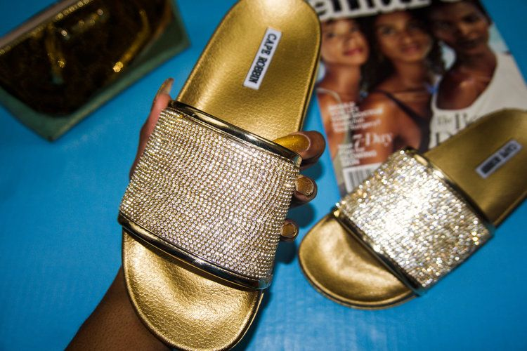 8002a704e728 DIY Fashion  How To Make Sparkly Bling Sandals (feat. Cape Robbin ...