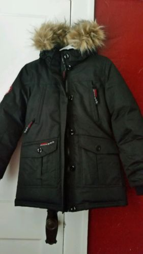 New Womens Canada Weather Gear Size Small S Black Coat Parka Super Triple Goose Black Coat Winter Jackets Clothes For Women