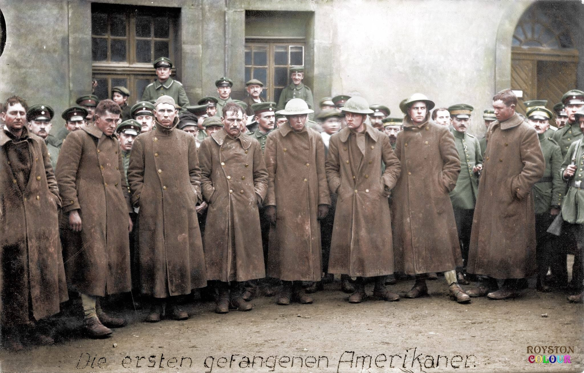 Some of the first American Prisoners of War taken May 1918 ...