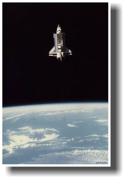 Nasa Space Shuttle Columbia In Earth Orbit With Bay Doors Open