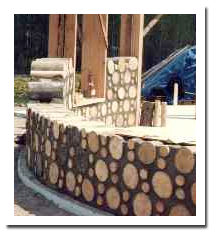 More cordwood construction. Beautiful.