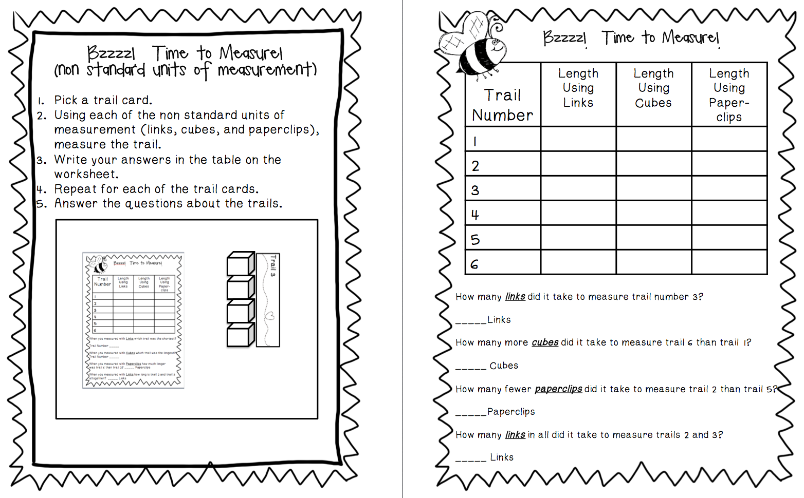 worksheet First Grade Measurement Worksheets heres a set of centerstation materials for measuring length in first grade buddies manic monday and new product