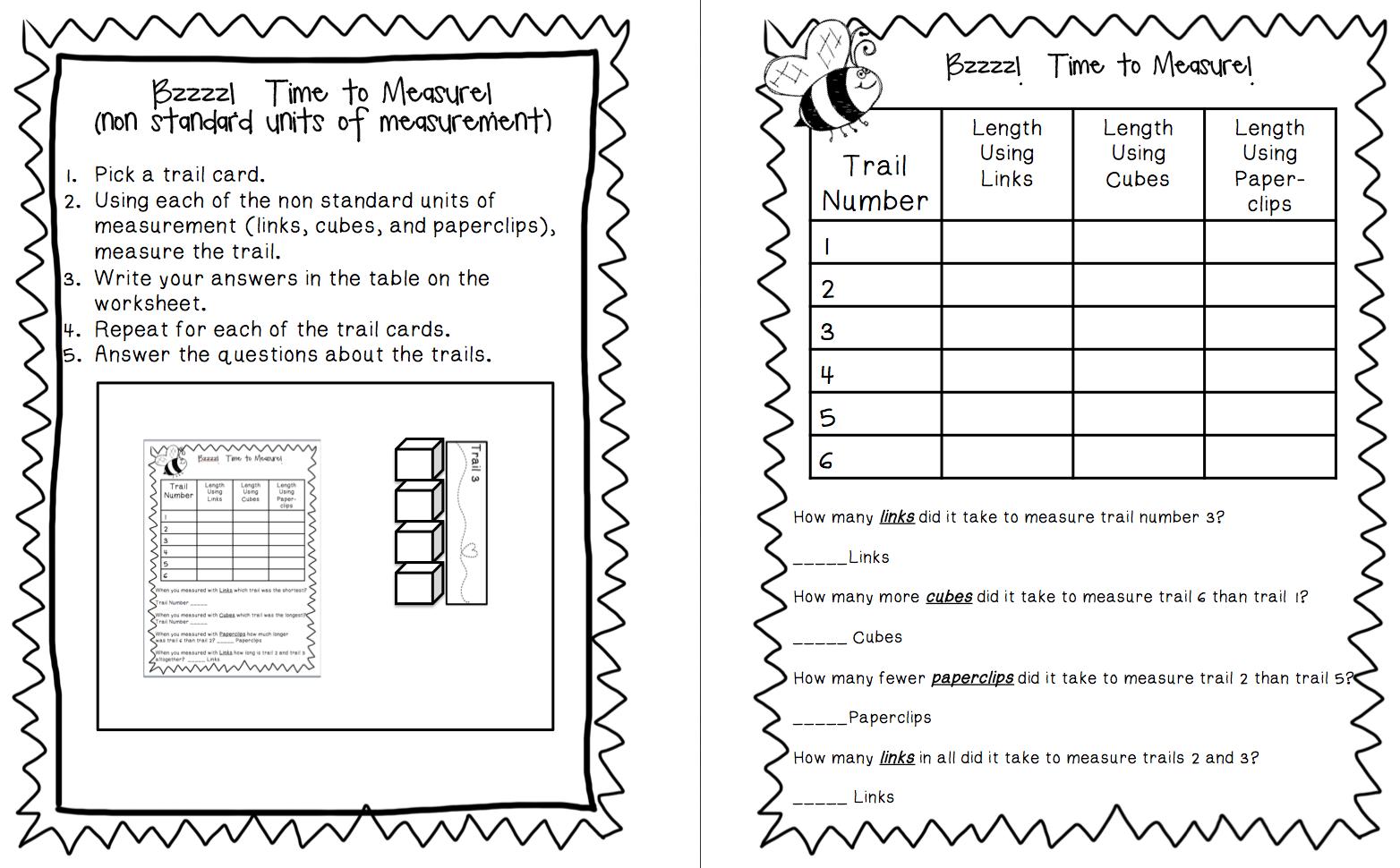 First Grade Buddies: Measurement   Math prep [ 970 x 1564 Pixel ]