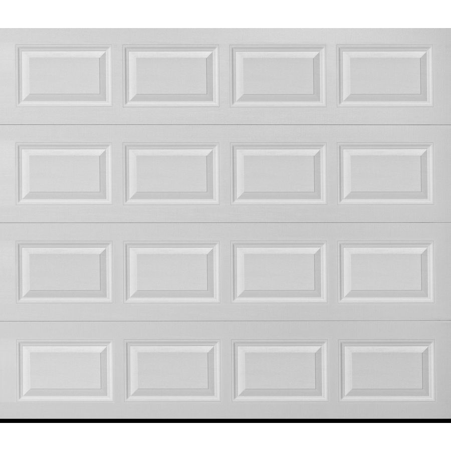 Pella Traditional 96 In X 84 In Insulated White Single Garage Door Lowes Com Single Garage Door White Garage Doors Garage Door Panels