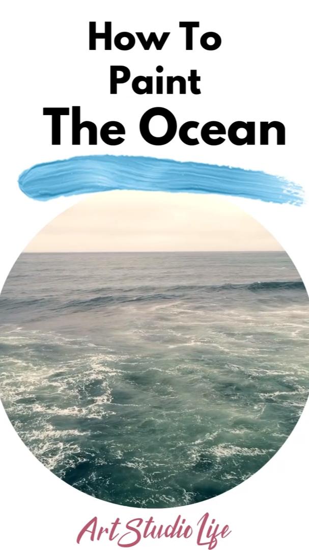 Ocean Painting Tutorial - How to Paint the Ocean