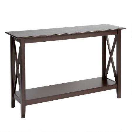 Milan Espresso Console Table Furniture Living Dining Room Table