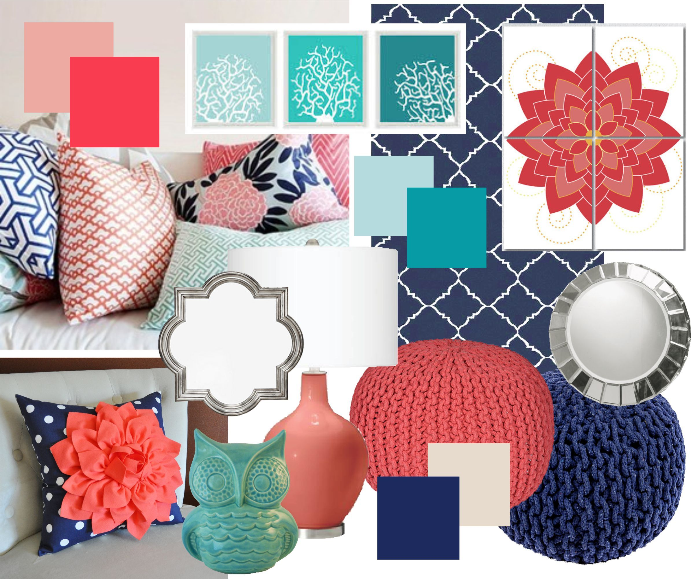 bedroom navy girls coral of teal best and