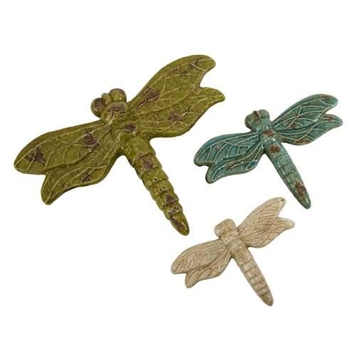 IMAX Midmay Dragonflies - Set of 3 - 85013-3. IMAX Midmay Dragonflies - Set of 3 - 85013-3 While the dragonfly reminds us to look beyond the surface and into the deeper implications of life, it is also a reminder to live in the moment. This set of three rustic ceramic dr.. . See More Decorative Accents at http://www.ourgreatshop.com/Decorative-Accents-C737.aspx