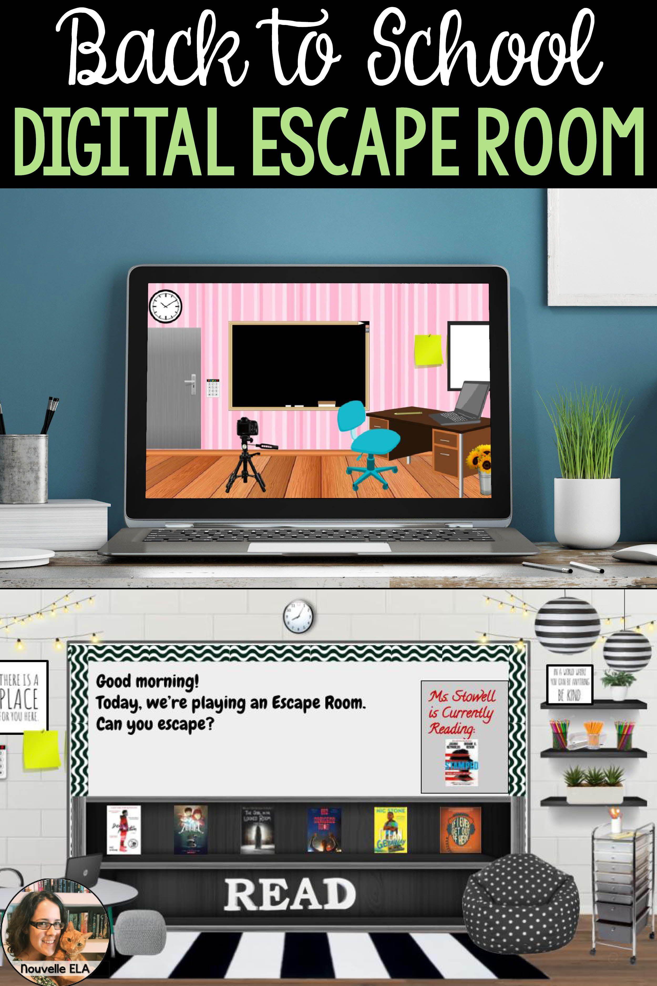 Digital back to school escape room tutorial template