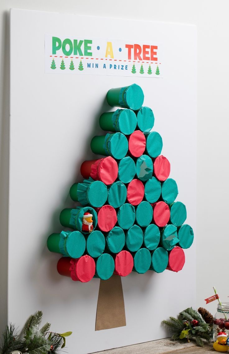 poke-a-tree game idea | handmade holidays | christmas, christmas