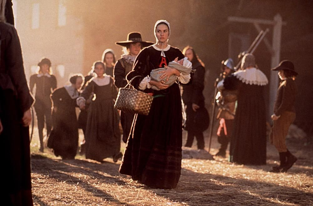 the scarlet letter, demi moore, 1995, © buena vista | movies