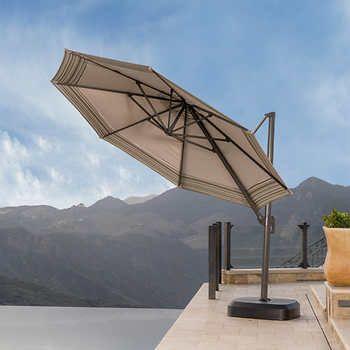 vistano 11ft round resort umbrella in