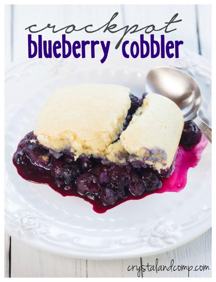 crockpot blueberry cobbler