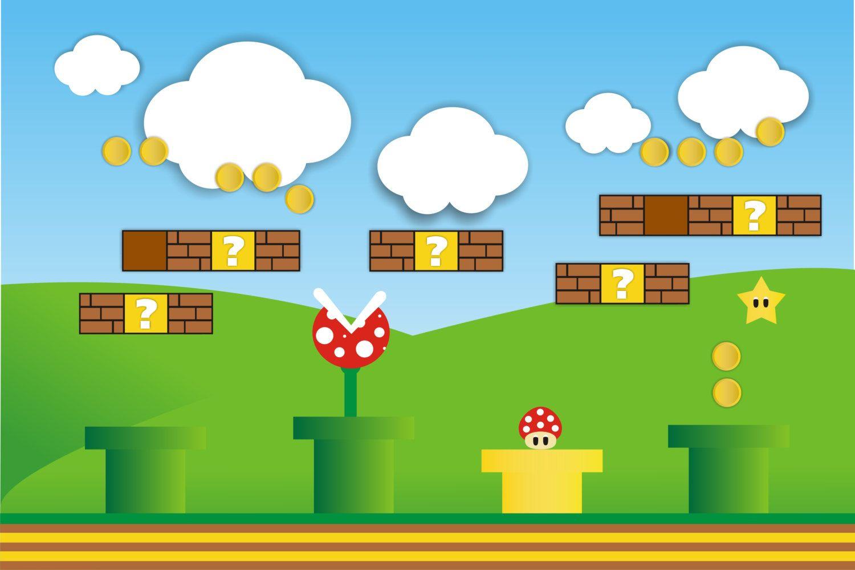 Mario Backdrop Printable Instant download by