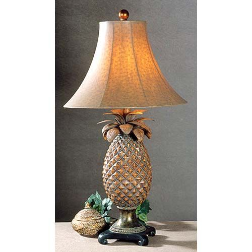 Modern Tropical Chandelier: Uttermost Anana Table Lamp In 2019