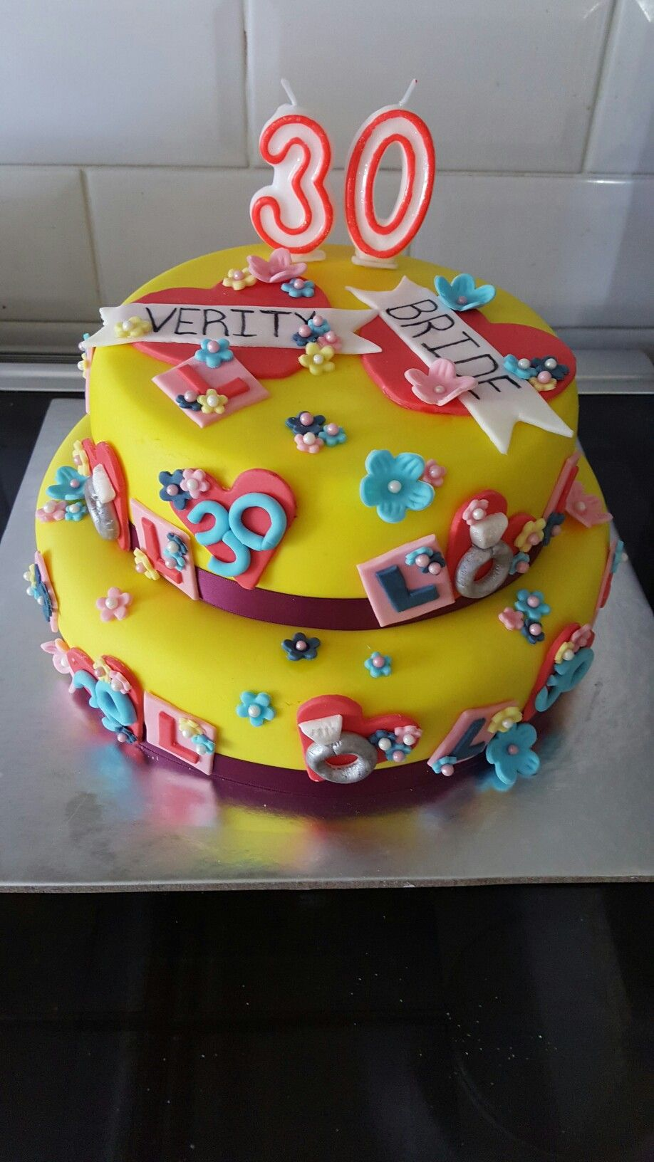 Hen party mixed with a 30th birthday cake for Verity