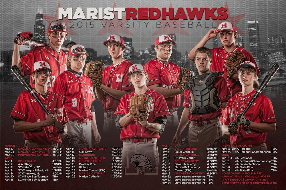 Marist High School Baseball Team Schedule Poster Chicago Il Chris W Pestel Baseball Team Pictures Baseball