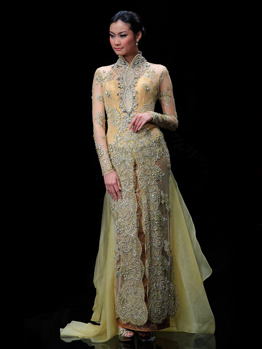 Model Gaun Kebaya Panjang Wedding Gown Kebaya Inspirations